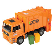 Rear Loading Garbage Truck - Orange