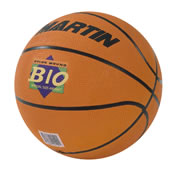 Rubber construction Basketball. 29.5 to 30 circumference. Ships deflated, pump sold separately.