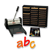 Prestige Pro Starter Set w/Lollipop Lowercase Letters Die Cuts 4 Inch
