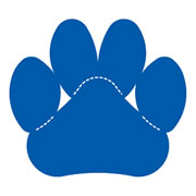Paw Print Die Cut Large