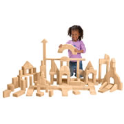 Unit Blocks - Basic Classroom Set I (107 pieces, 28 shapes)