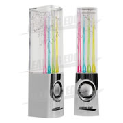 Dancing Water Speakers with AC Adapter - Chrome