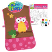 Owl Apron & Canvas Craft Set