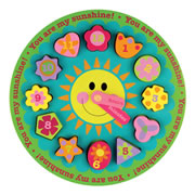 You Are My Sunshine! Garden Wooden Clock Shape Puzzle