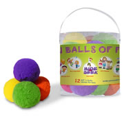 Colored Snowballs - Colored Balls of Fun (Set of 12)