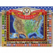 USA Capitals & Presidents Interactive 3D Chart