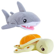 SoapSox Bath Scrub Terry Cloth Bath Sponges - Tank Shark & Taylor Turtle