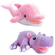 SoapSox Bath Scrub Terry Cloth Bath Sponges - Harper Hippo & Ava Dolphin
