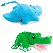 SoapSox Bath Scrub Terry Cloth Bath Sponges - Ray Manta & Hunter Gator