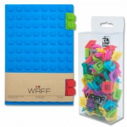 Waff Notebook with Letter Cubes - Blue