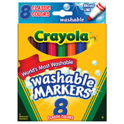 Crayola® 8-Count Classic Colors Washable Markers (Single Box)
