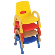 Nature Color Husky Stackable Chair 7 1/2""