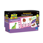 Grades K & up. Have fun learning initial, medial, and final consonant sounds in word content with 72 learning activities. Hot Dots® Power Pen sold separately.
