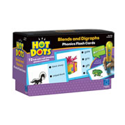 Grades K & up. Have fun with blends and digraphs. Read words and phrases with beginning and ending r-,l-, and s- blends and digraphs (sh, ch, th, wh). 72 learning activities in all. Hot Dots® Pen sold separately.