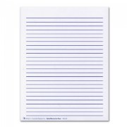 Wide Lined Individual Paper Sheets With Raised Lines