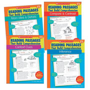 These books provide the practice students need to master the reading skills that build on comprehension. Each book has 35 reproducible pages that feature high-interest nonfiction reading passages with short-answer practice questions that target one of these essential reading comprehension skills. Each easy-to-use book also includes model lessons, assessments, and an answer key.