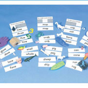 Grades K - 2. Help children isolate sounds in words that are almost identical and practice recognizing initial, medial, and final sounds. Laminated word cards show spelling differences. Set includes 60 objects, 60 words cards, three sorting cards and teaching notes.