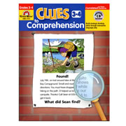 "Grades 3 - 4. These guided lessons help students practice comprehension strategies, build vocabulary, and use graphic organizers to interpret information. Each lesson is based on a ""mystery riddle"" students try to solve. Each book includes 40 lessons with reproducible riddle poster, activity sheets and skill review. Also includes a CD-ROM with PDF of entire book and full-color riddle posters."