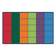 "Colorful Rows Seating Carpet - 8'4"" x 13'4"" (Factory Second)"