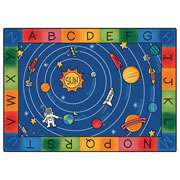 "Milky Play Literacy Rug - 4'5"" x 5'10"" (Factory Second)"