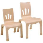 Bentwood Stackable Chairs (Set of 2)