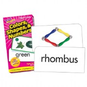 Colors, Shapes, & Numbers Flash Cards (Set of 96)