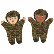 Army Puppets (Set of 2)