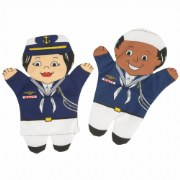 Navy Puppets (Set of 2)