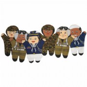 Military Hand Puppet Set (Set of 6)