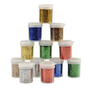 Glitter Shaker 3/4 oz. Set - Set of 12