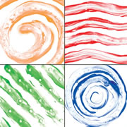 "Tactile Finger Paint Paper 12"" x 12""  (36 Sheets)"