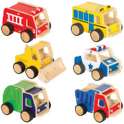 Super Tough Wooden Vehicles (Set of 6)