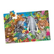 Animals of the World Jumbo Floor Puzzle (50 Pieces)