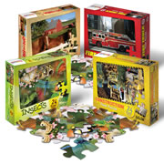 Real Photo Floor Puzzles (Set of 4)