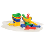Mini Sand Bucket Set - 12 Pieces