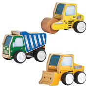 Jr. Plywood Vehicle Set - Construction Vehicles