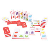 Jumbo Textured Farm Dominoes (Set of 28)
