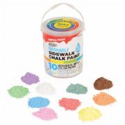 Sidewalk Chalk Paint (10 Colors)