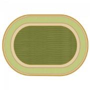 Sense of Place Highland Stripe Green Oval Carpet - 6' X 9'