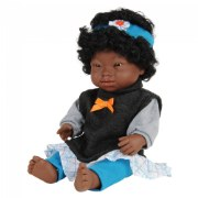 "Doll with Down Syndrome 15"" - African Girl with Outfit"