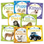 Touch & Feel Book Set (Set of 8) - Board Books