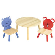 Table and Animal Chairs Set