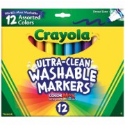Crayola® 12-Count Classic Colors Washable Markers (Single Box)