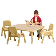 "K System® Rectangular Table 24"" x 36"" (Standard Legs) - Natural w/Natural Trim"