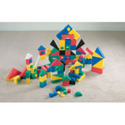 Color Soft Foam Blocks - 152 Piece Set (11 shapes)