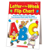 PreK - Grade 1. Learning the ABCs is fun with this sturdy write-on/wipe-off flip chart filled with instant alphabet activities. Just grab a dry-erase pen and invite your class to investigate the special shape and sound of each letter in turn. Includes engaging ideas to make letter-knowledge really stick. A truly innovative resource.
