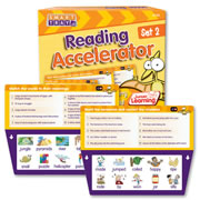 Grades K - 3. Improve reading skills by reading & matching words, captions, word outlines, and fixing silly sentences.  Each set contains 25 cards. Self correcting. For use with the innovative Smart Tray (sold separately).