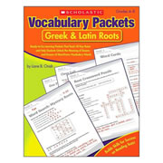 Greek and Latin Roots - Vocabulary Packets