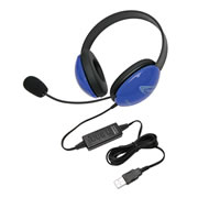 Listening First™ USB Headset - Blue (Single)