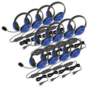 Listening First™ USB Headsets - Blue (Set of 12)